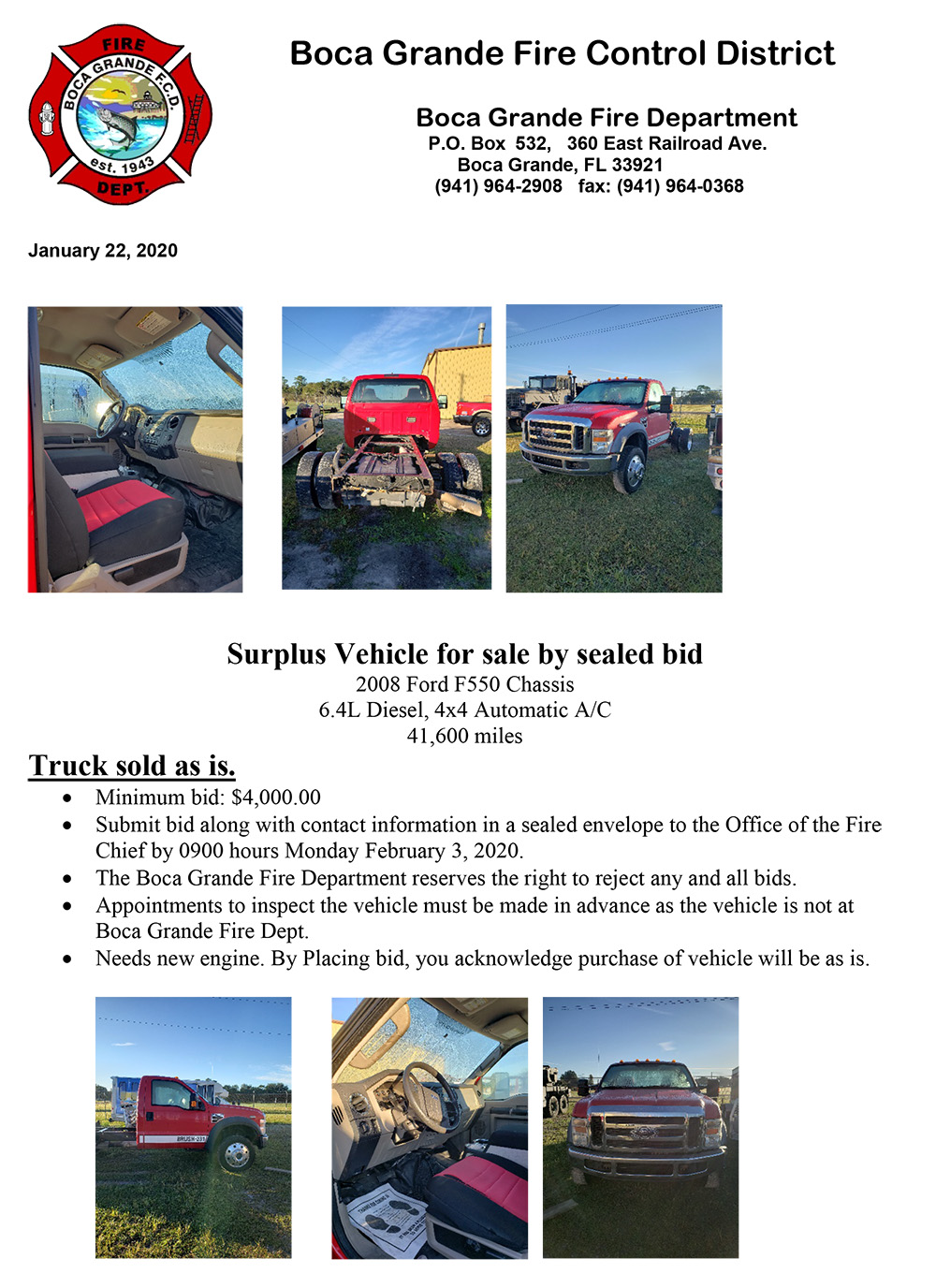 Surplus Vehicle bid